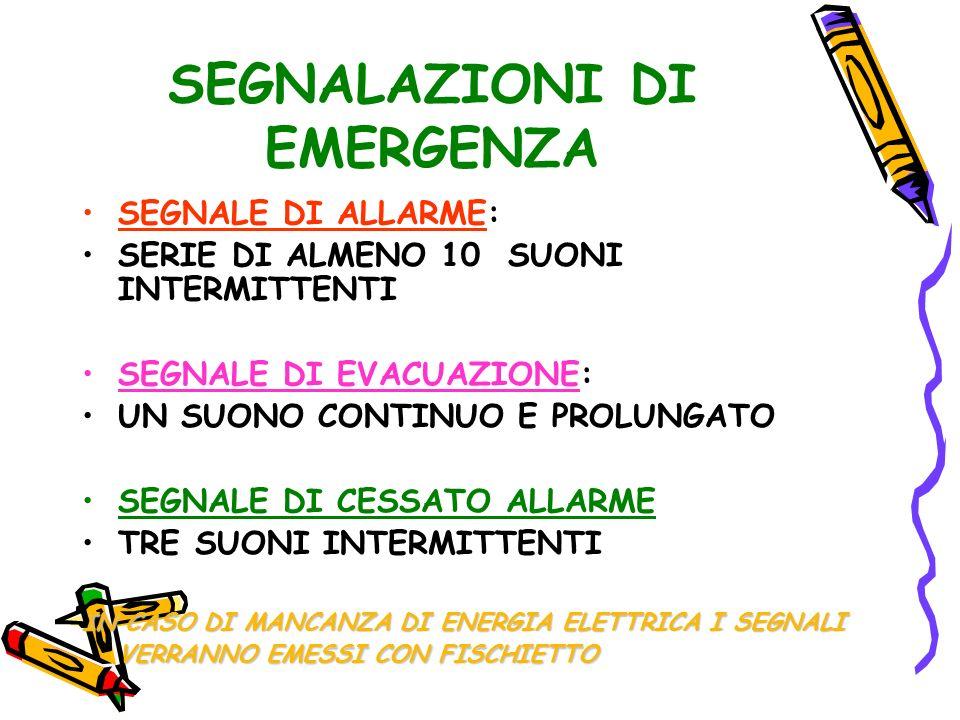 SEGNALAZIONI DI EMERGENZA
