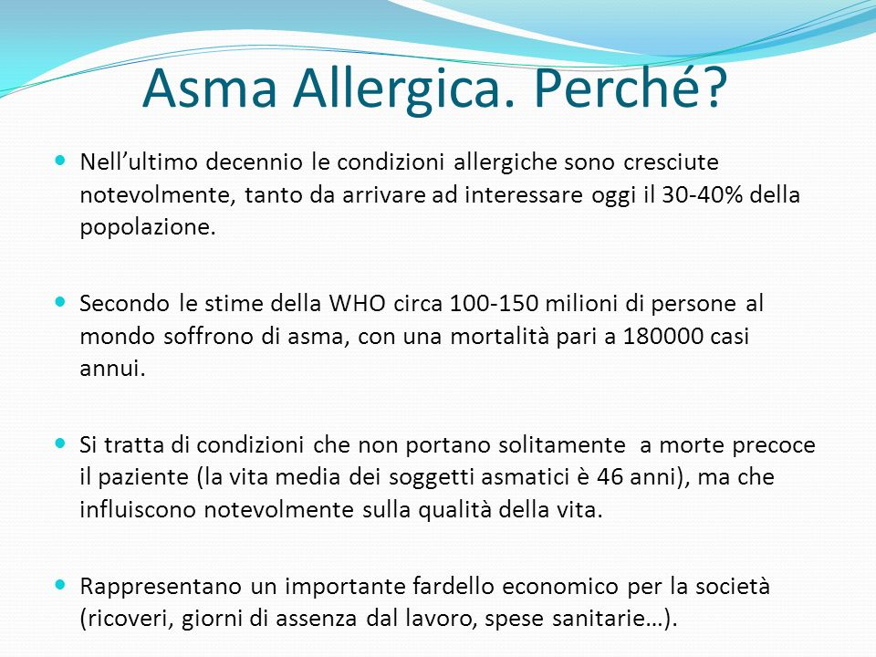 Asma Allergica. Perché