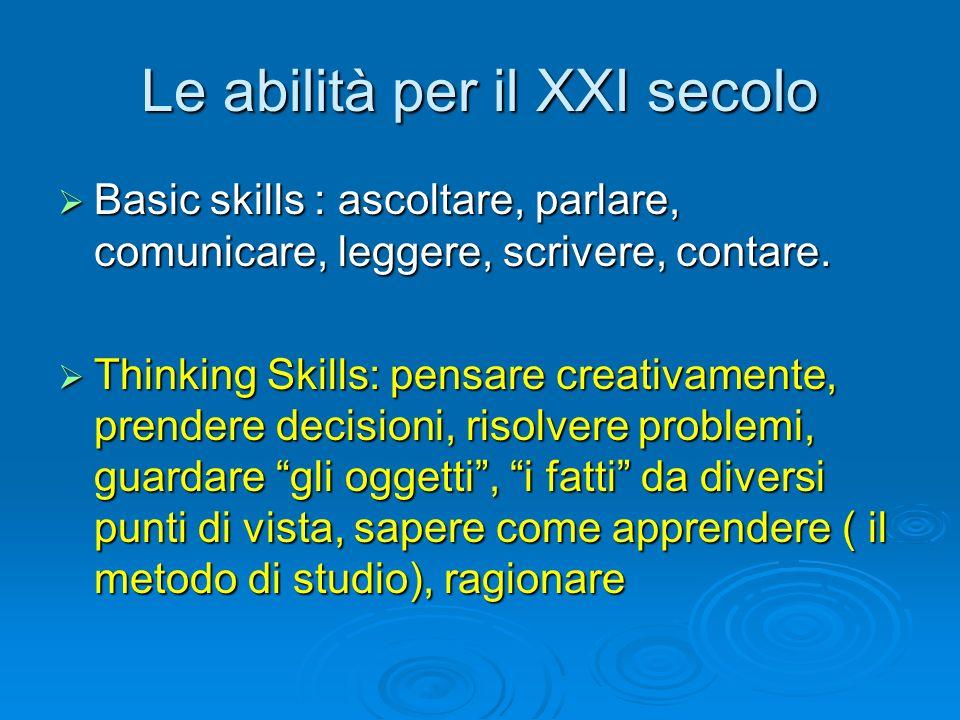Le abilità per il XXI secolo