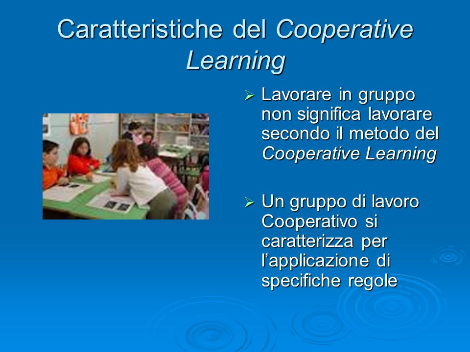 Caratteristiche del Cooperative Learning