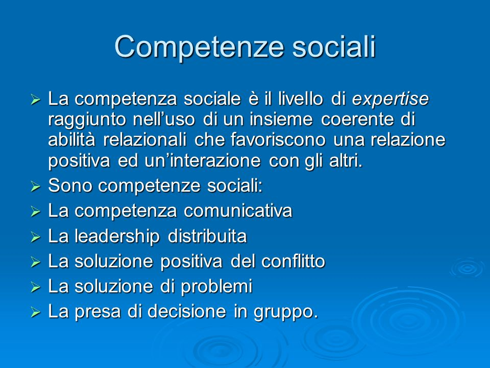Competenze sociali