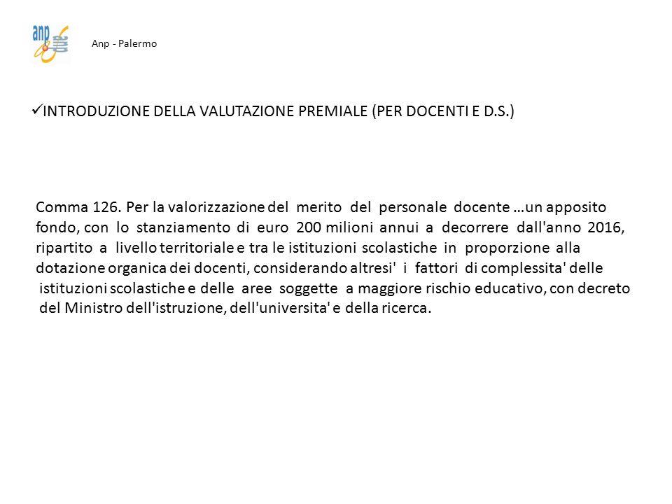 INTRODUZIONE DELLA VALUTAZIONE PREMIALE (PER DOCENTI E D.S.)