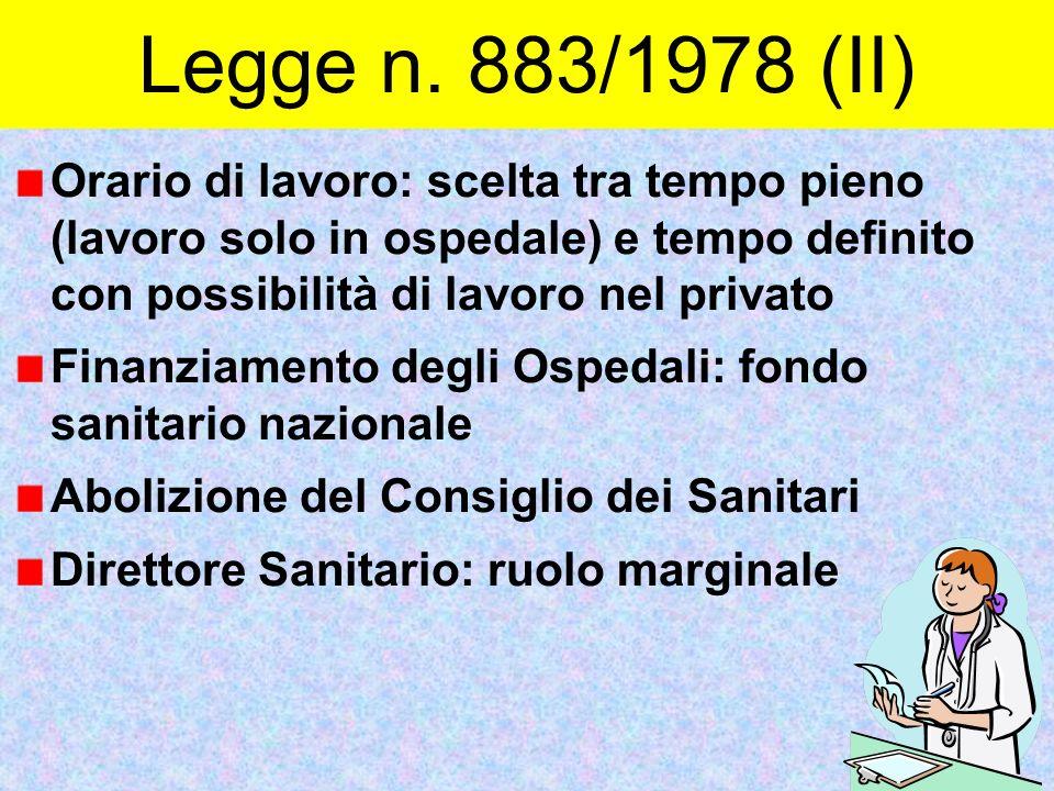 Legge n. 883/1978 (II)