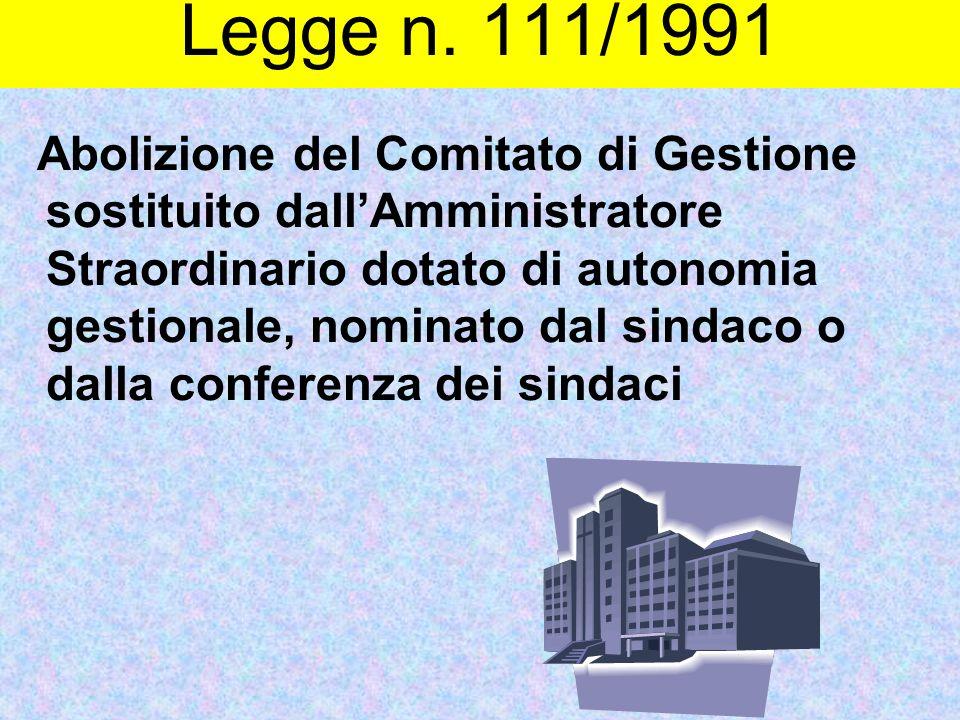 Legge n. 111/1991