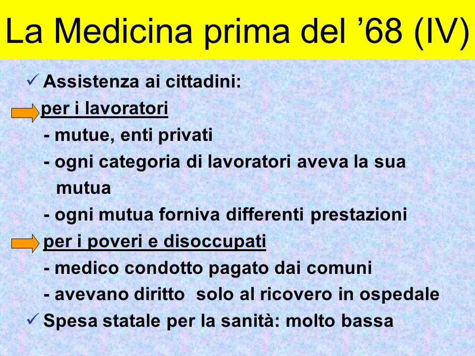 La Medicina prima del '68 (IV)