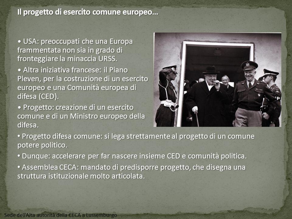 Il progetto di esercito comune europeo…