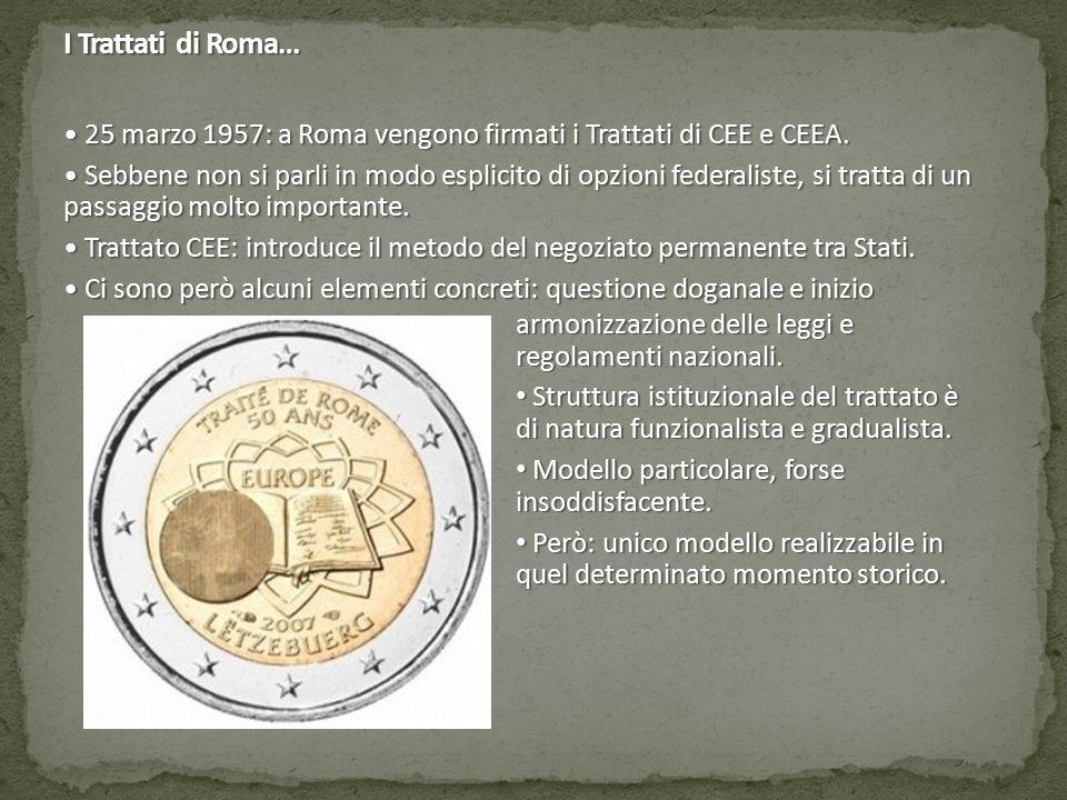 I Trattati di Roma… 25 marzo 1957: a Roma vengono firmati i Trattati di CEE e CEEA.