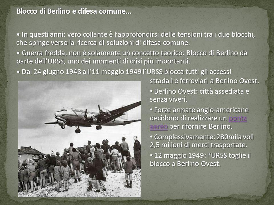 Blocco di Berlino e difesa comune…