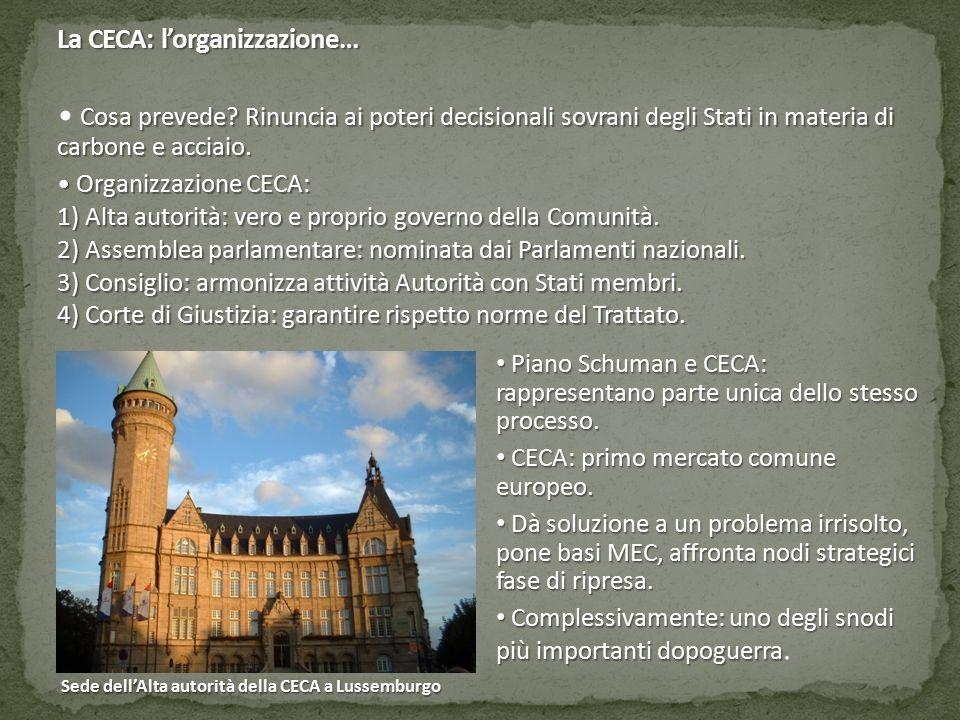 La CECA: l'organizzazione…