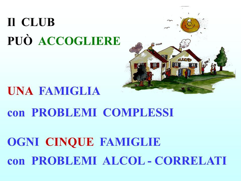 Il CLUB PUÒ ACCOGLIERE