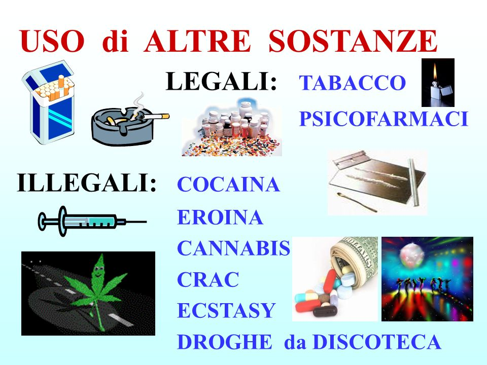 USO di ALTRE SOSTANZE LEGALI: TABACCO PSICOFARMACI
