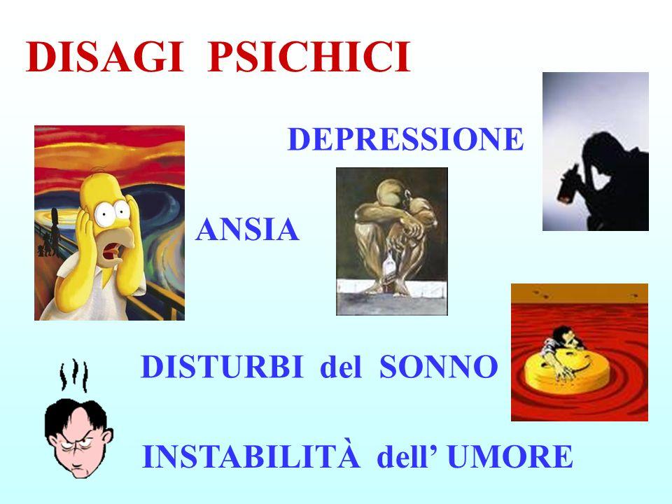 DISAGI PSICHICI DEPRESSIONE ANSIA DISTURBI del SONNO