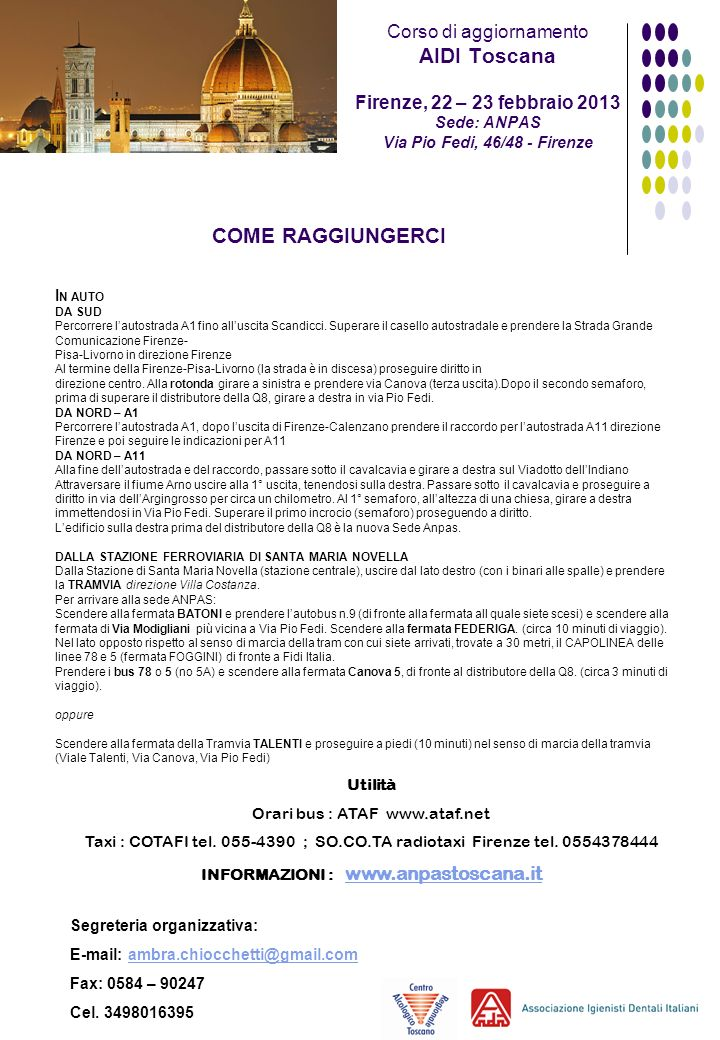 INFORMAZIONI : www.anpastoscana.it