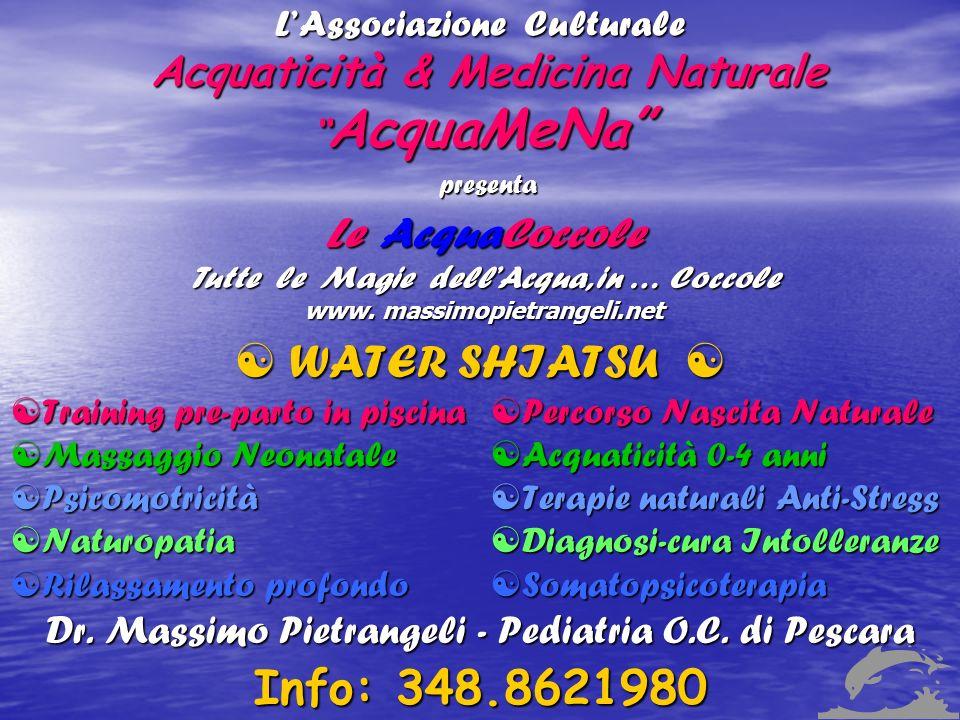 L'Associazione Culturale Acquaticità & Medicina Naturale AcquaMeNa