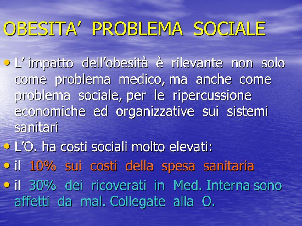OBESITA' PROBLEMA SOCIALE