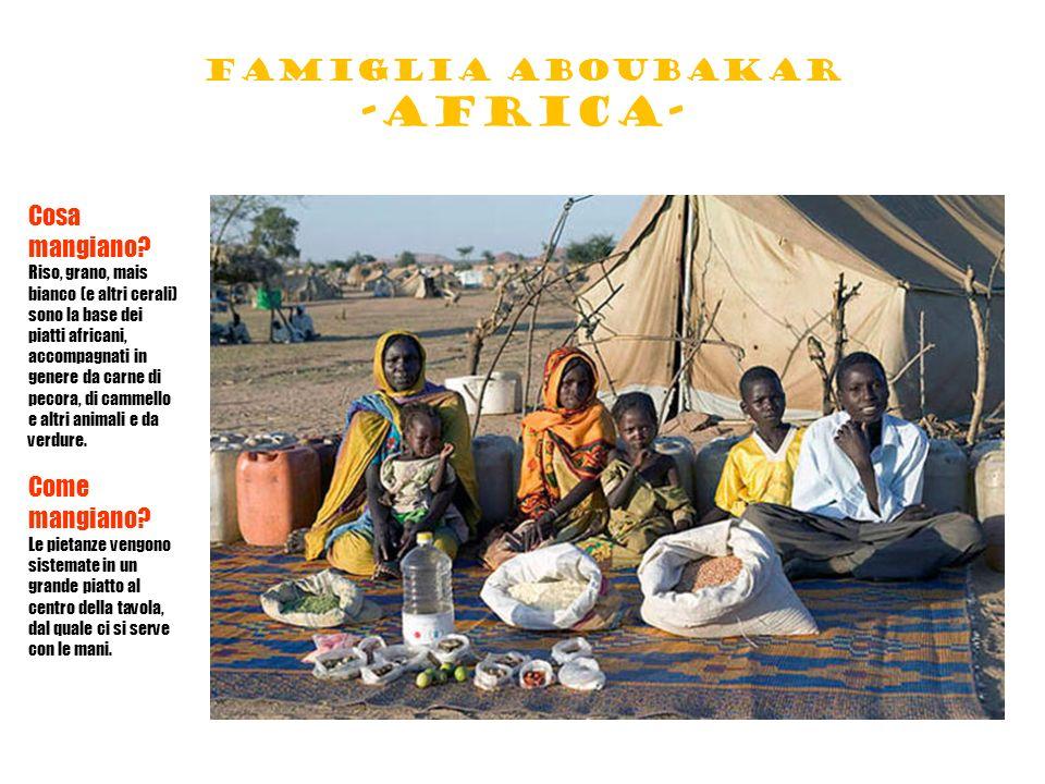Famiglia aboubakar -africa-