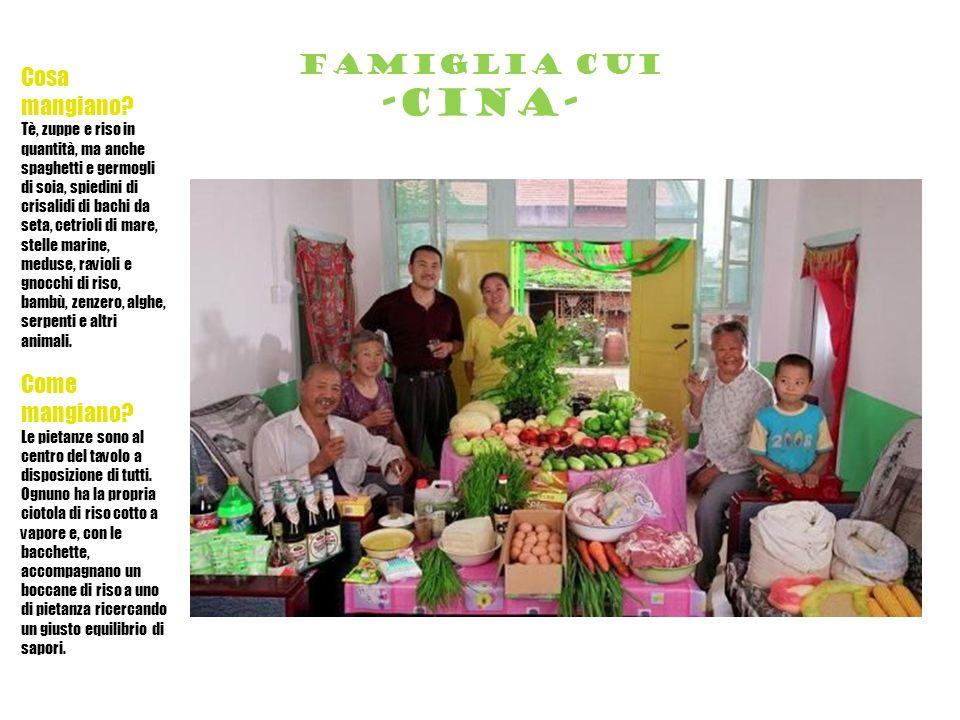 Famiglia cui -cina- Cosa mangiano Come mangiano