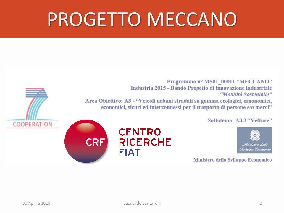 PROGETTO MECCANO 30 Aprile 2015 Leonardo Santaroni