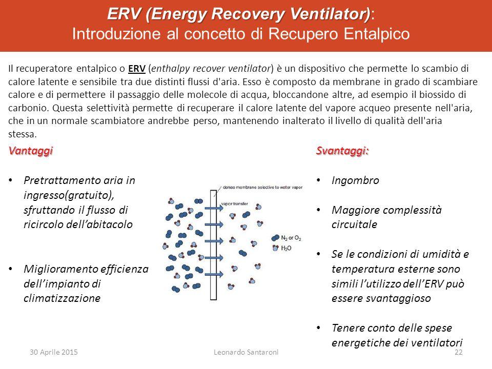 ERV (Energy Recovery Ventilator): Introduzione al concetto di Recupero Entalpico