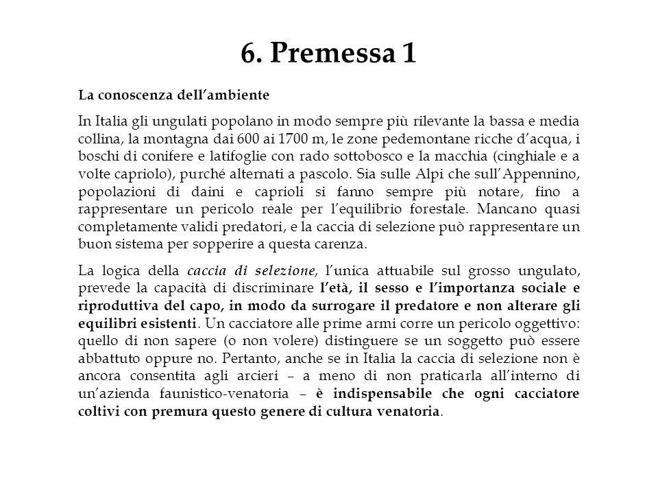 6. Premessa 1 La conoscenza dell'ambiente