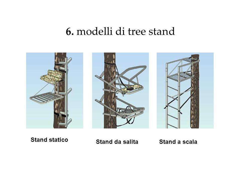 6. modelli di tree stand Stand statico Stand da salita Stand a scala
