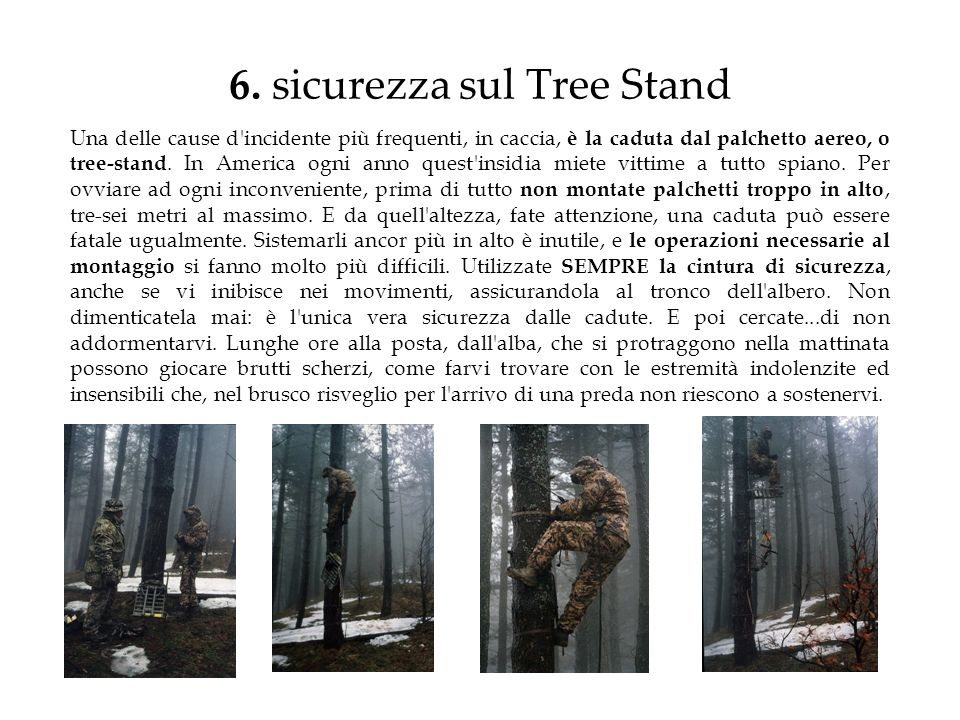 6. sicurezza sul Tree Stand