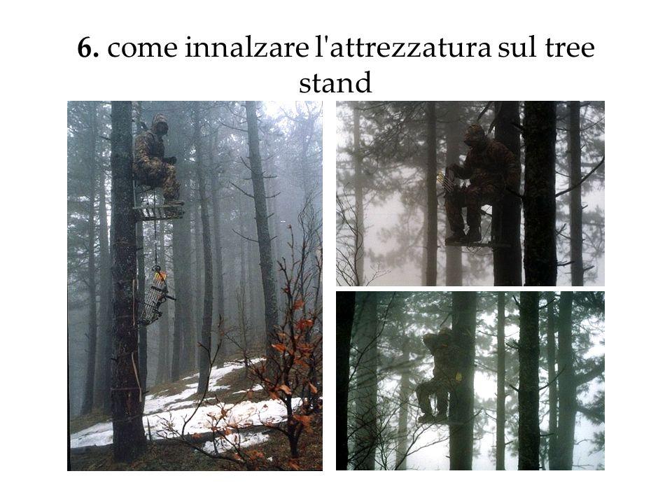 6. come innalzare l attrezzatura sul tree stand