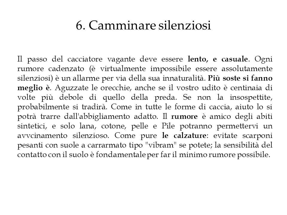 6. Camminare silenziosi