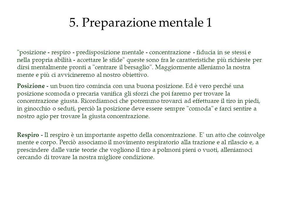 5. Preparazione mentale 1