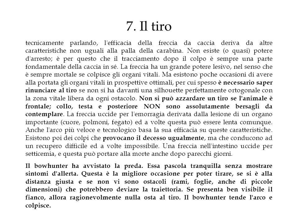 7. Il tiro