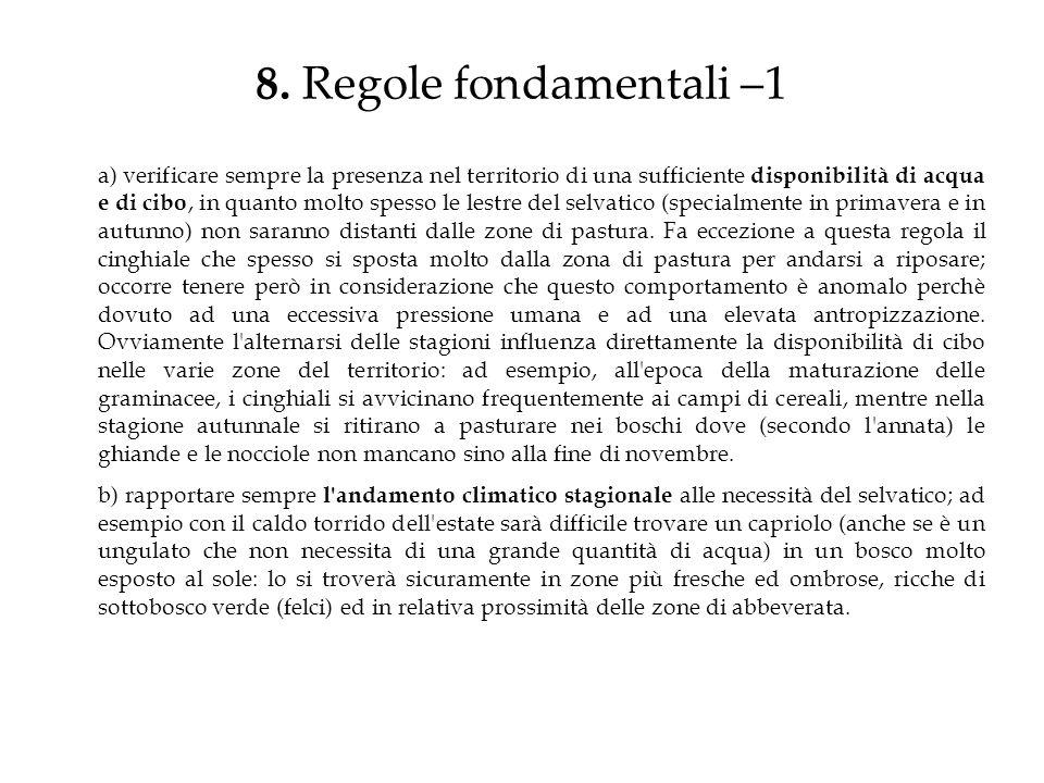 8. Regole fondamentali –1