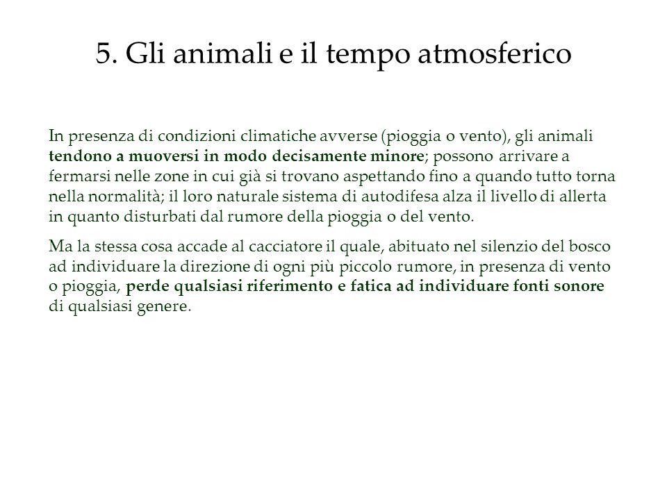 5. Gli animali e il tempo atmosferico