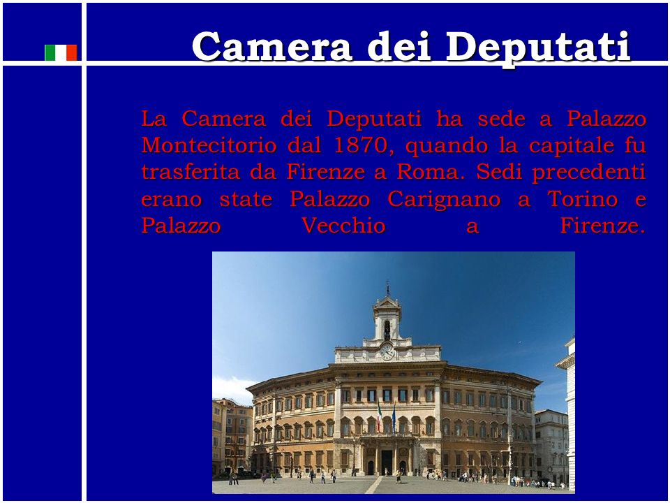 Il parlamento italiano ppt video online scaricare for Sede camera deputati