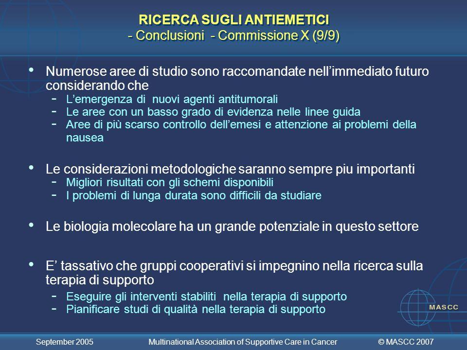 RICERCA SUGLI ANTIEMETICI - Conclusioni - Commissione X (9/9)