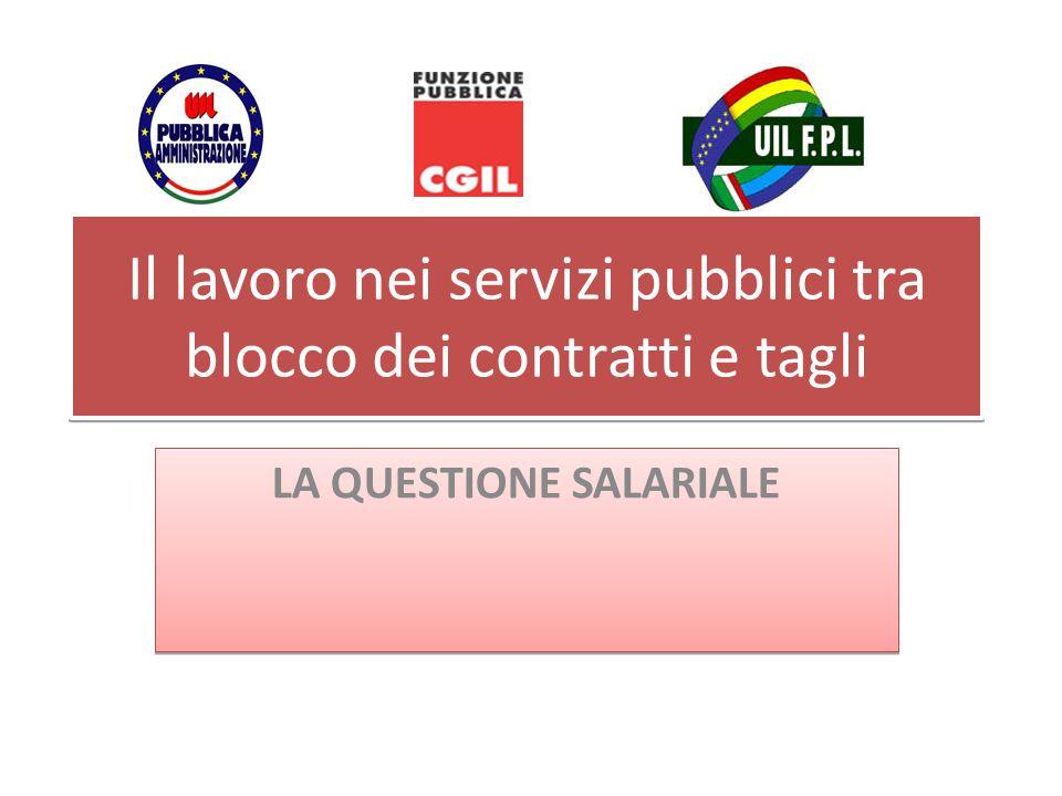 Il lavoro nei servizi pubblici tra blocco dei contratti e tagli