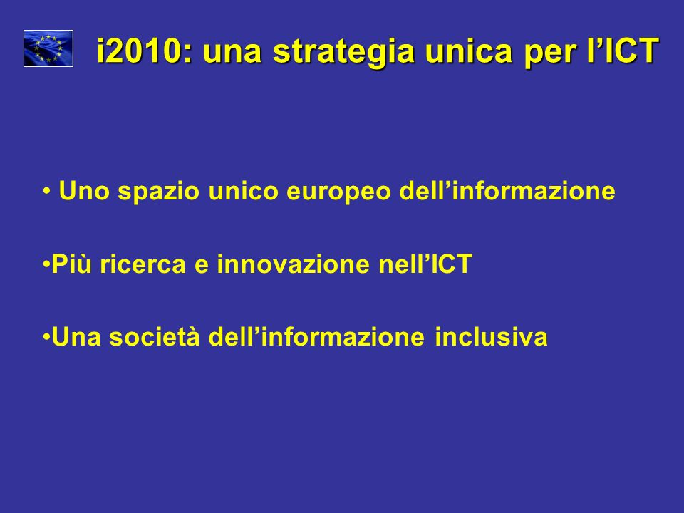 i2010: una strategia unica per l'ICT
