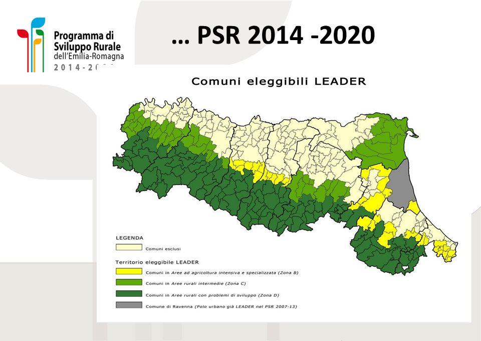 … PSR 2014 -2020 Spiegare perché la situazione è così cambiata rispetto alla zonizzazione di 10 anni prima.