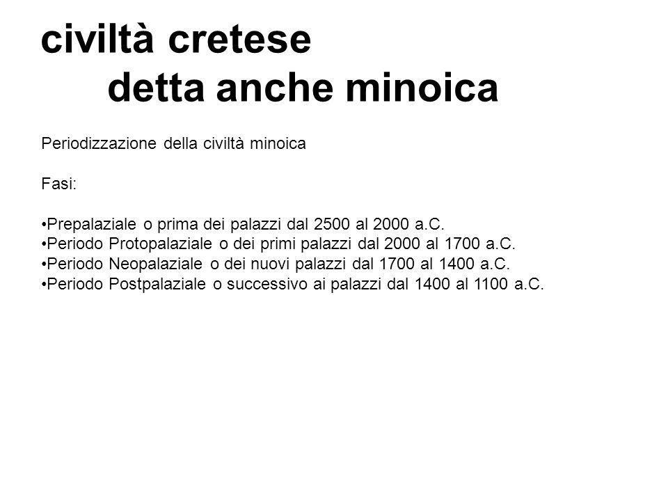 civiltà cretese detta anche minoica