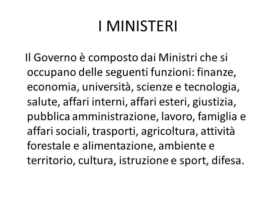 I MINISTERI