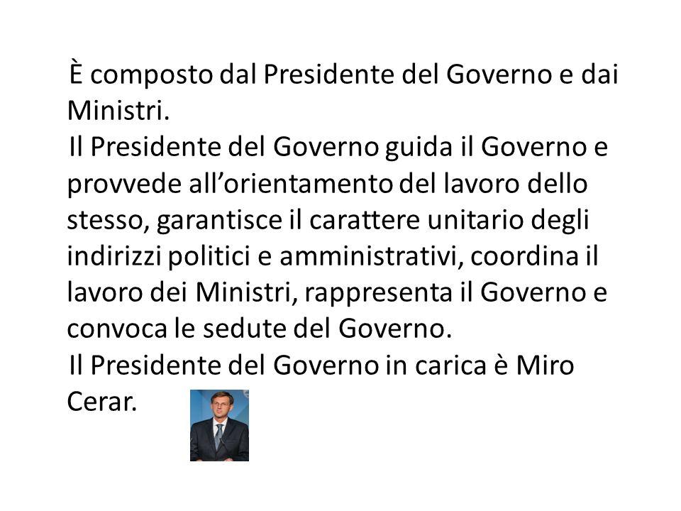 È composto dal Presidente del Governo e dai Ministri