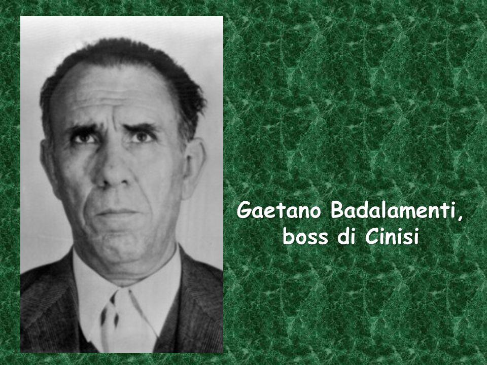 Gaetano Badalamenti, boss di Cinisi