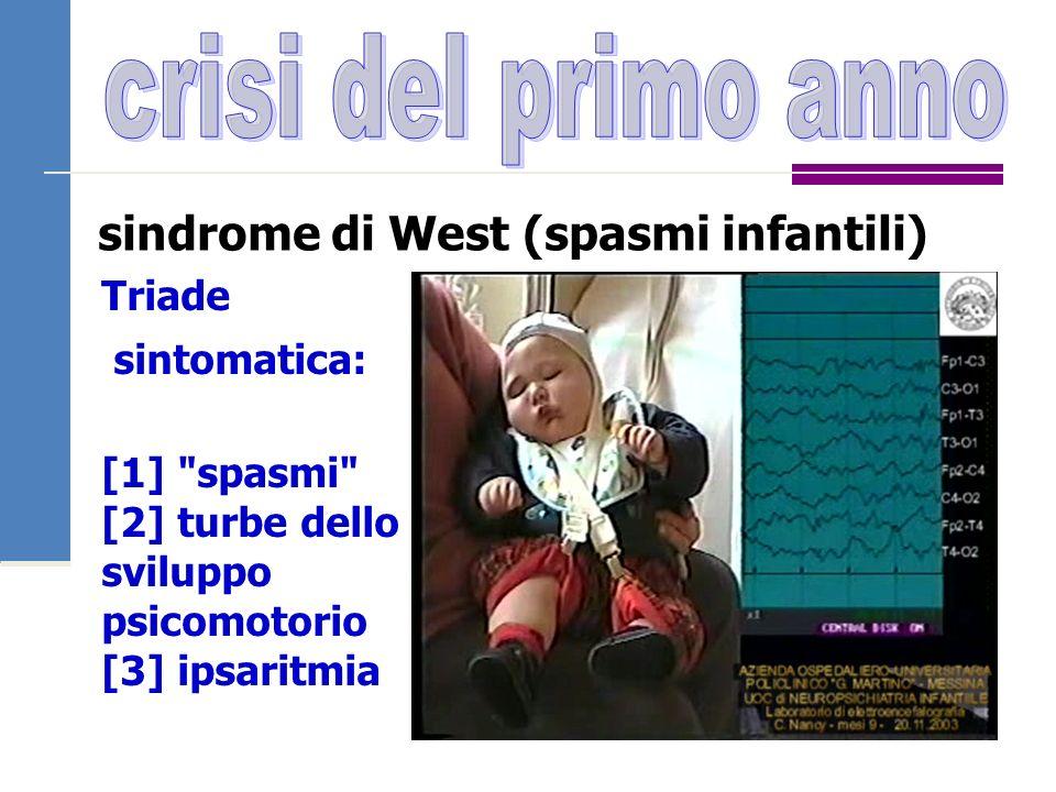 crisi del primo anno sindrome di West (spasmi infantili) Triade