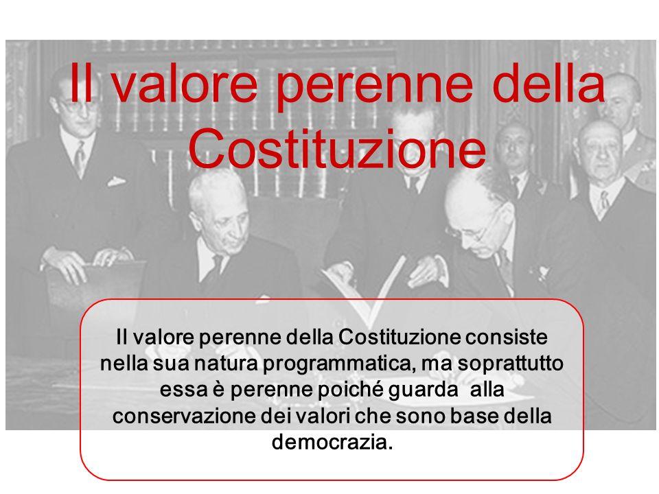 Il valore perenne della Costituzione