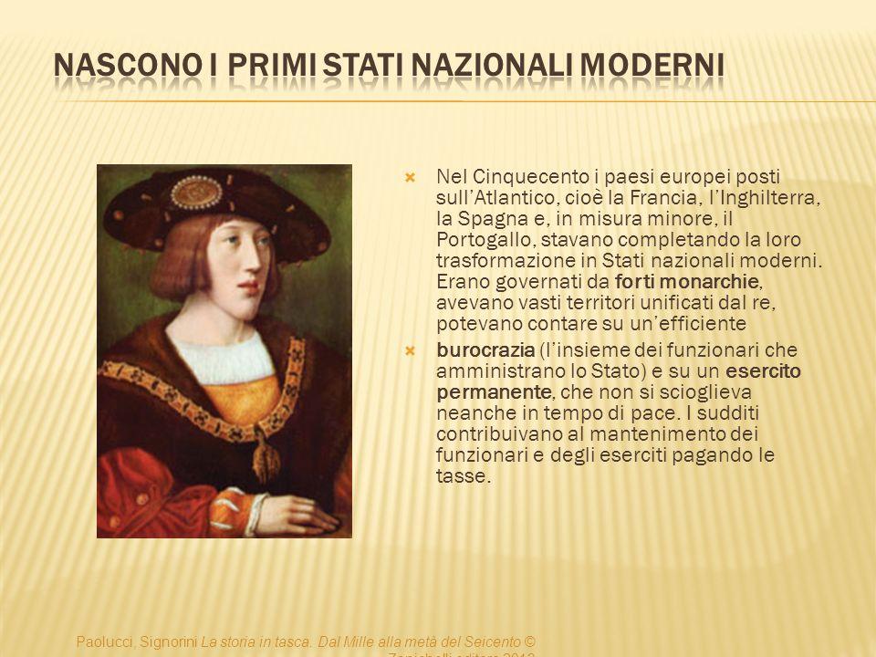 Nascono i primi Stati nazionali moderni