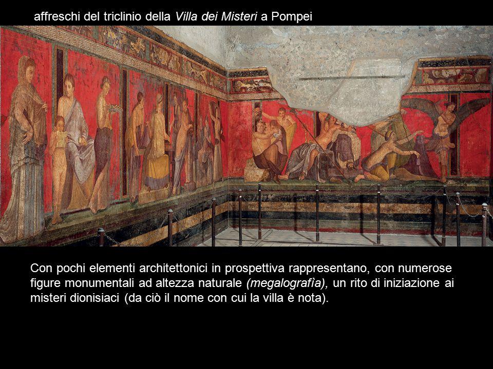 affreschi del triclinio della Villa dei Misteri a Pompei