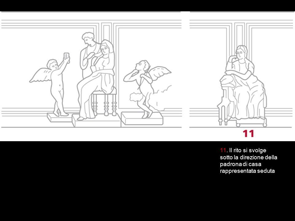 11. Il rito si svolge sotto la direzione della padrona di casa rappresentata seduta