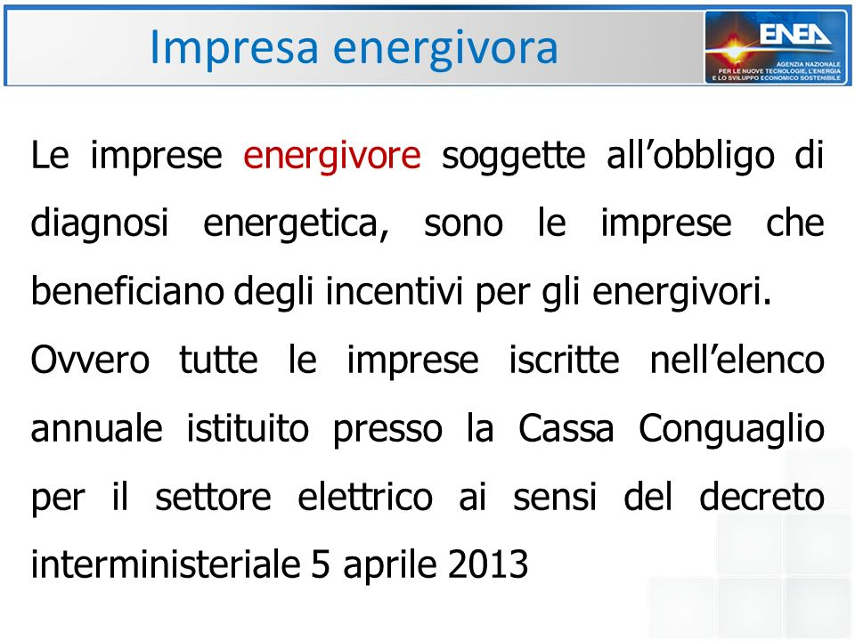 Impresa energivora