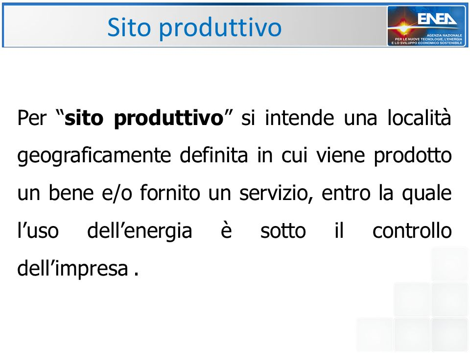 Sito produttivo