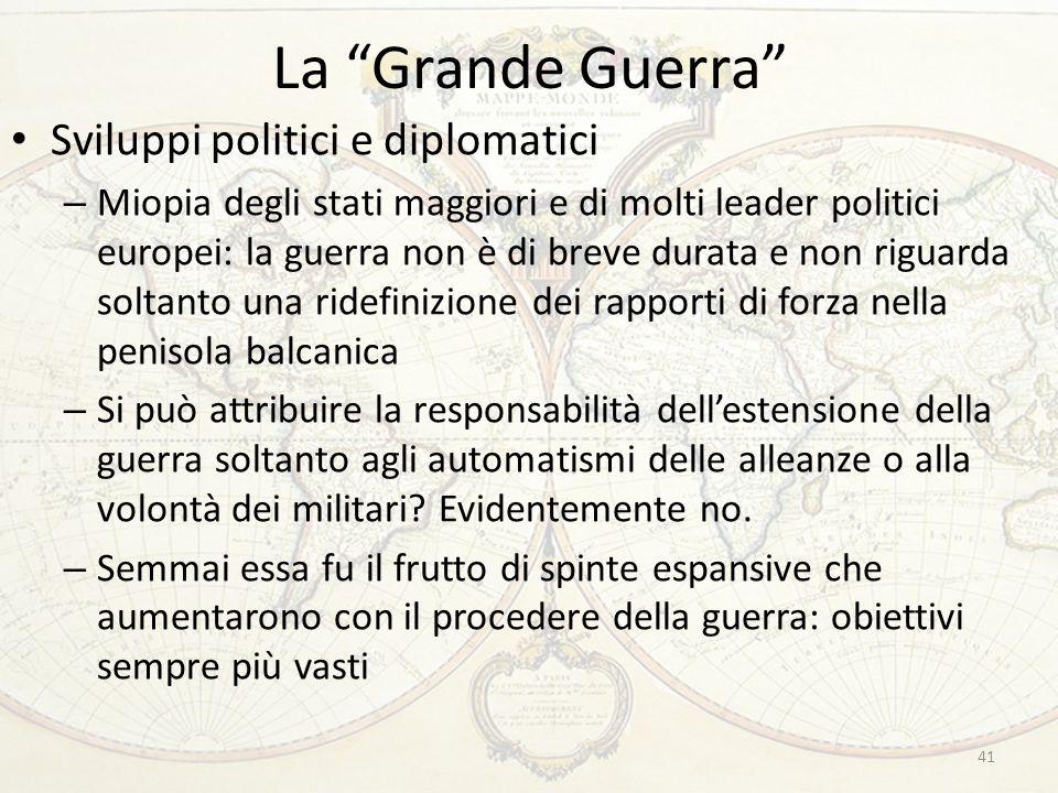 La Grande Guerra Sviluppi politici e diplomatici