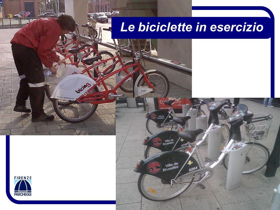 Le biciclette in esercizio